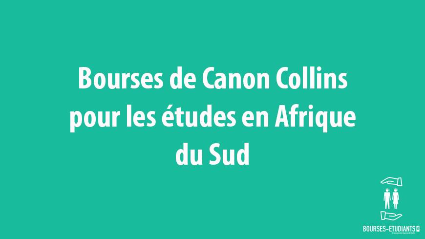 Bourse Canon Collins