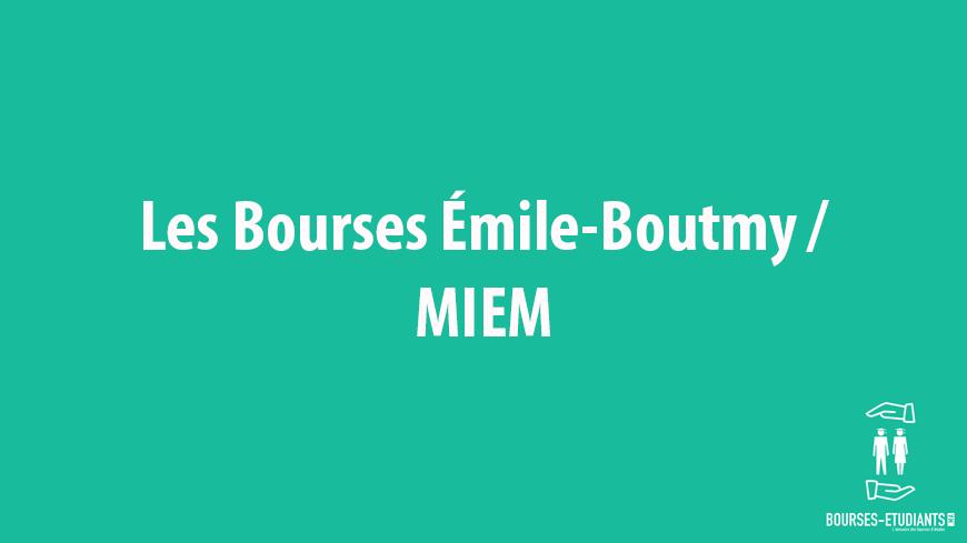 Les Bourses Émile-Boutmy - MIEM