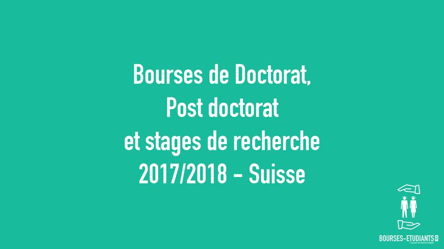 Bourses De Doctorat Postdoctorat Et Stages De Recherche