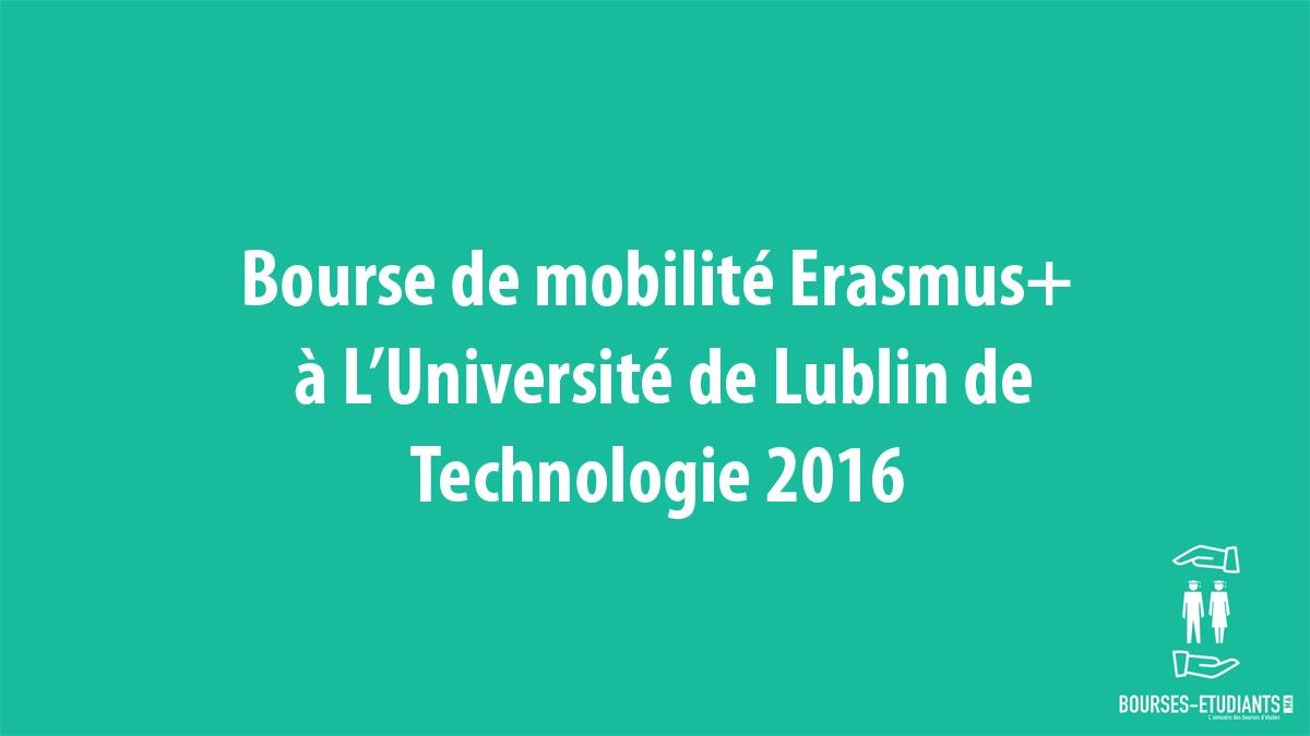 Bourses De Mobilité Erasmus à L Université De Lublin De