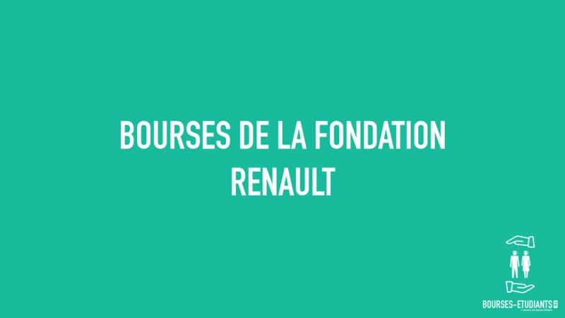 bourses de la fondation renault pour laur ats tudiants emi bourses. Black Bedroom Furniture Sets. Home Design Ideas