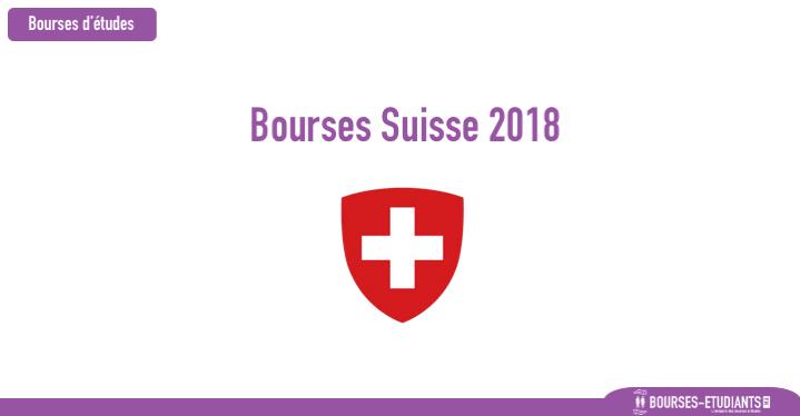 Bourses Suisse 2018