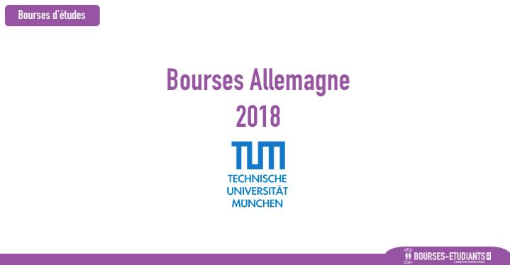 Bourses d'étude: Allemagne 2018 - Technical University of