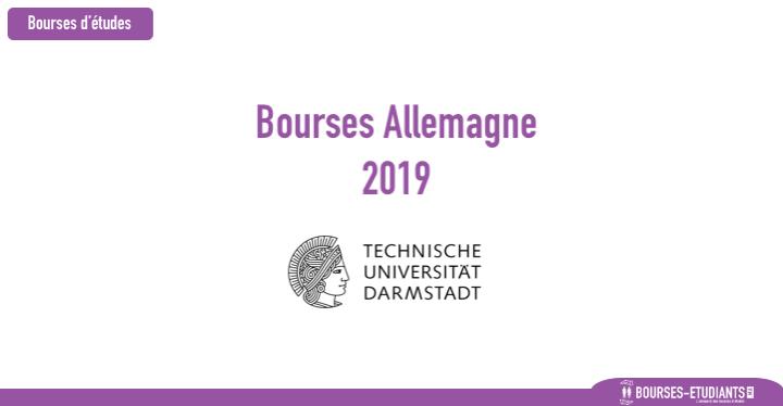 Bourses Maroc 2019 Allemagne 2019 - Technical University of Darmstadt