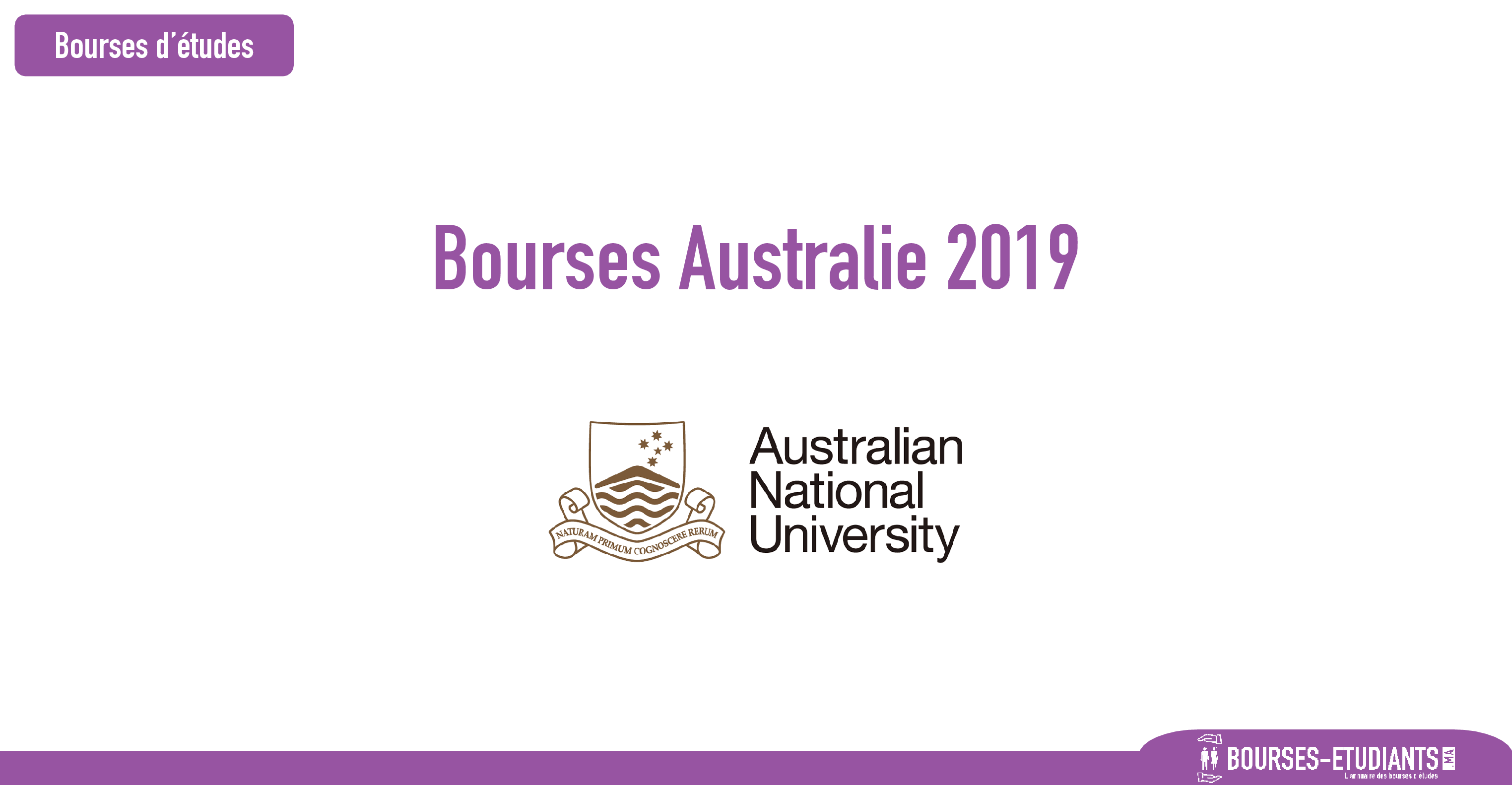 bourse Australian National University