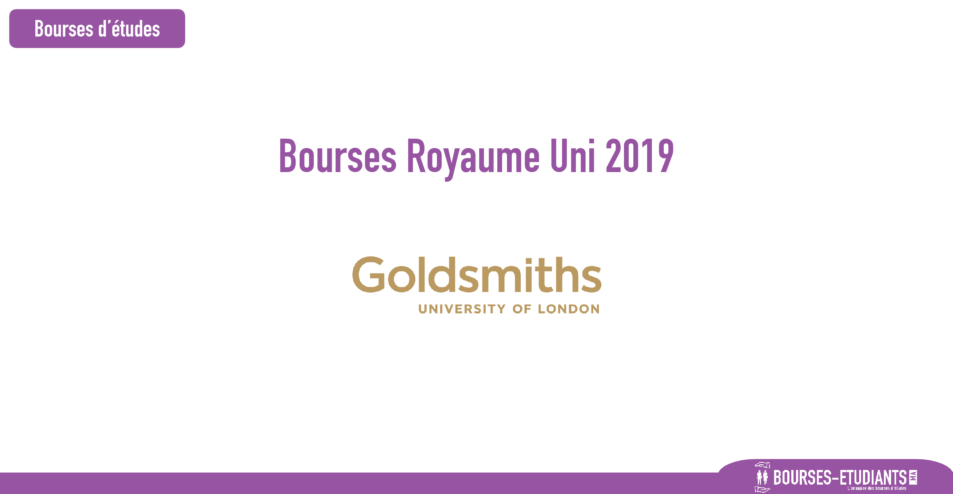 bourse Goldsmiths