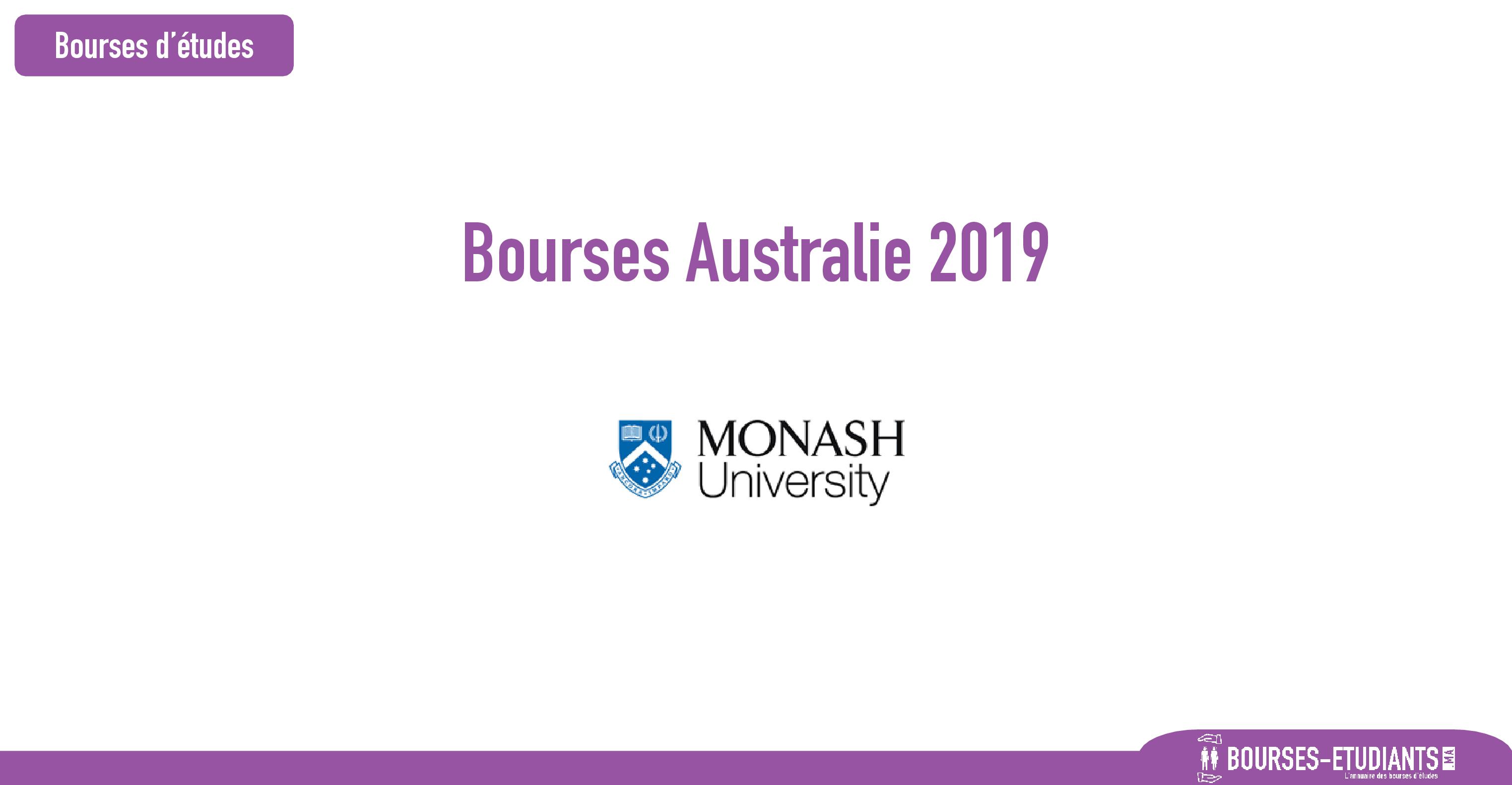 bourse Monash University