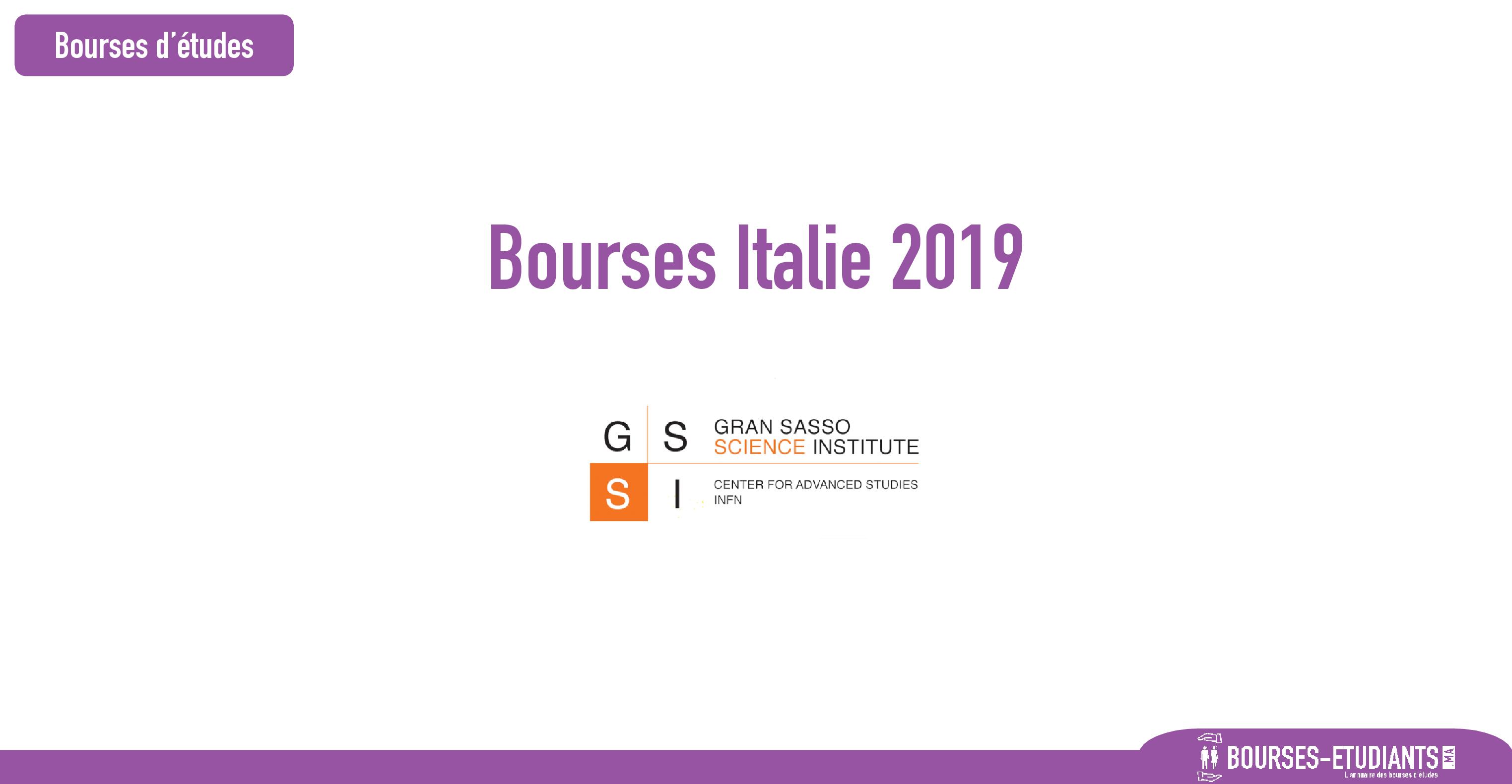 bourse Gran Sasso Science Institute