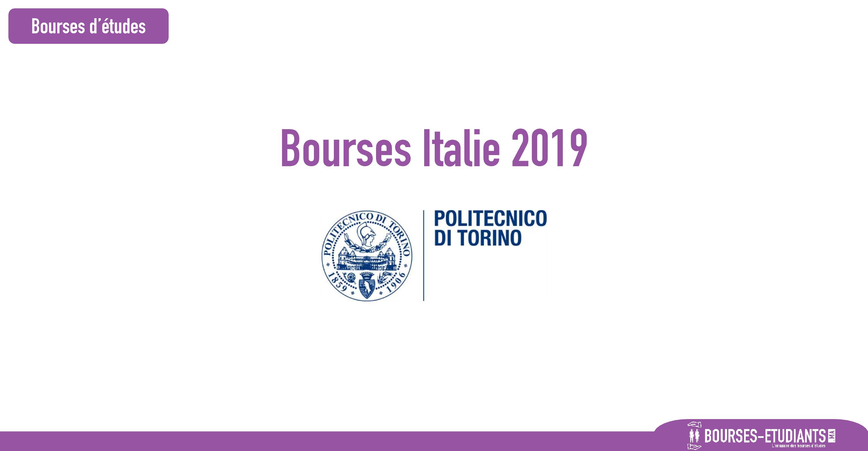 bourse Politecnico di Torino
