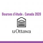 Bourse d'étude : Canada 2020 - Université d'Ottawa - Bourse du recteur