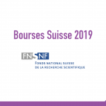 bourse Swiss National Science Foundation