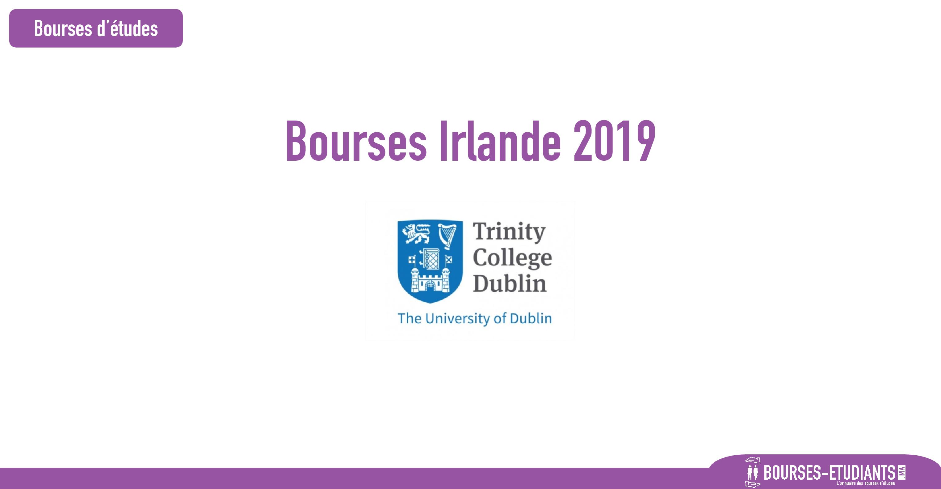 bourse Trinity College Dublin