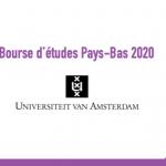 Bourse d'études Pays-Bas 2020 - Université Amsterdam