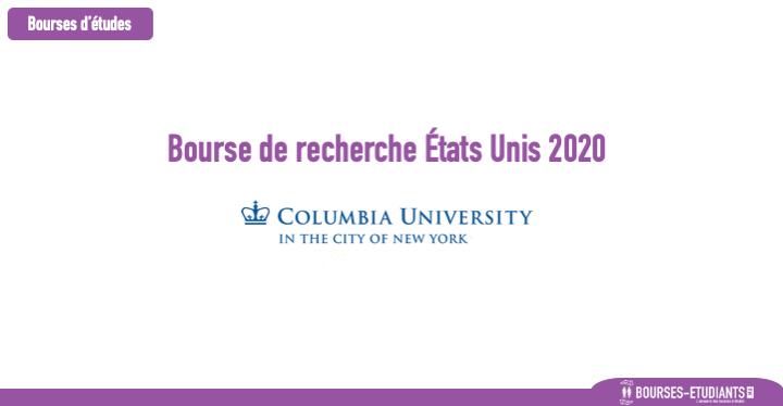 Bourse de recherche États Unis 2020 : Bourse Post-doctorale / Earth Institute Columbia University